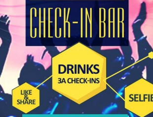 В Киеве открылся бар, который вместо денег принимает чекины и селфи