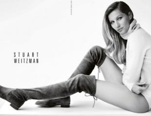 Жизель Бундхен представила коллекцию обуви Stuart Weitzman осень-зима 2014-2015