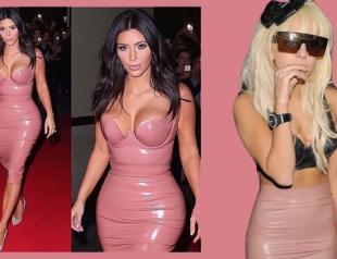 Звезды в розовом латексе: Ким Кардашьян VS Леди Гага