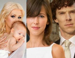 Чем радуют звездные семьи: Шерлок женился, Агилера показала дочь