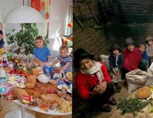 Сколько тратят на еду семьи в других странах: фотопроект