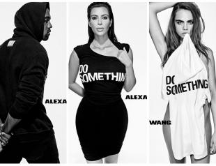 Ким Кардашьян, Кара Делевинь, Канье Уэст и другие звезды поддержали  благотворительный проект Alexander Wang