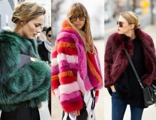 Street style: как носить шубу