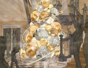 Рождественские елки: Burberry сделали елку из золотых и серебряных зонтиков
