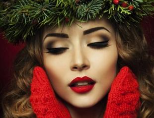 Интересные идеи новогоднего макияжа 2016: фотогалерея и видео