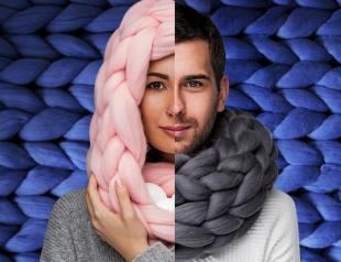Украинка покорила мир шарфами, вязанными без спиц