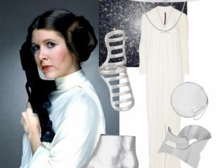 В память о Кэрри Фишер: как одеться в стиле принцессы Леи и других героинь Звездных воен