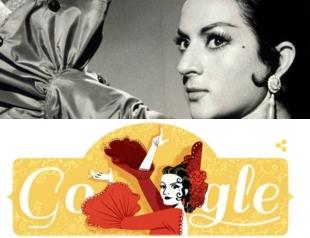 93 года со дня рождения Лолы Флорес: Google посвятил дудл танцовщице фламенко