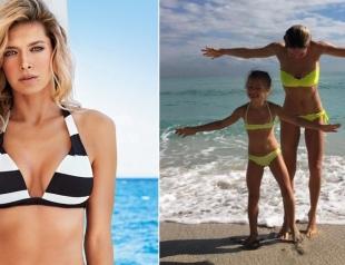 Океан и две реки: Вера Брежнева с дочкой на пляже, как две сестры