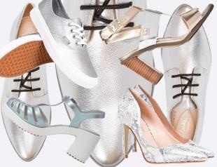 Серебряная обувь: 20 пар стильной обуви на весну и лето