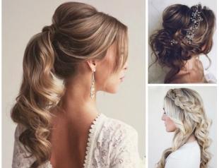 Самые красивые прически на выпускной вечер: фото простых причесок для волос любой длины
