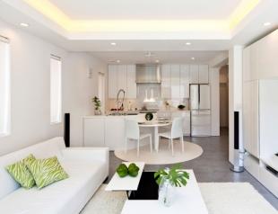 Дизайн гостиной совмещенной с кухней: различные варианты интерьера