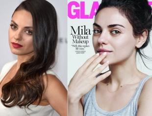 Красивая без косметики: Мила Кунис снялась без макияжа для обложки глянца