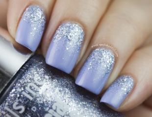 Маникюр с блестками: 50 лучших идей модного дизайна ногтей (фото)