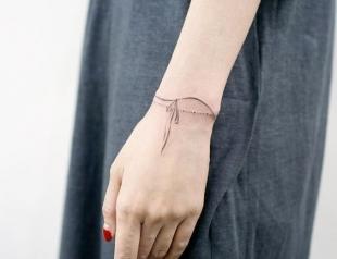 Татуировка-браслет: 30 лучших идей тату, которые понравятся каждой девушке