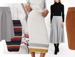 Модные теплые юбки, которые можно носить всю зиму