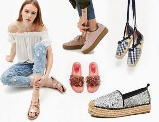 Жаркая походка: модная обувь без каблука на лето