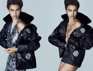 Стильная и дерзкая Ирина Шейк украсила обложку Vogue, вновь восхитив шикарной фигурой (ФОТО)