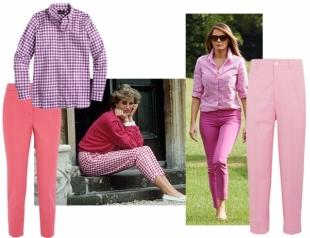 Сколько стоит рубашка первой леди США: Мелания Трамп против принцессы Дианы
