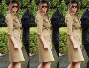 Мелания Трамп вновь заставила говорить о себе, надев модный наряд оливкового цвета (ФОТО)