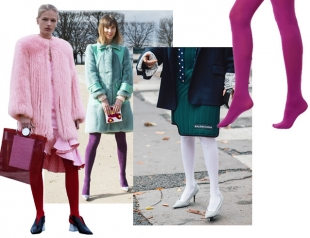 Капрону время, потехе час: цветные колготки снова в моде