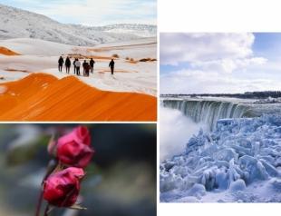 Аномальная зима-2018: снег в Сахаре, -40 в Америке, замерший Ниагарский водопад и цветущие розы в Украине (ФОТО+ВИДЕО)