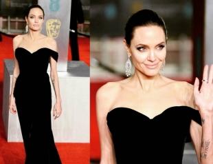 Анджелина Джоли стала королевой красной дорожки на церемонии BAFTA-2018 (ФОТО)