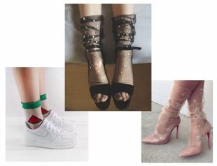 Очень нежно: как носить и сочетать прозрачные носки с узором