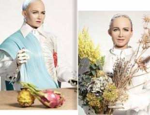 Робот София снялась для обложки популярного глянца!