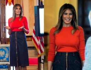 Икона стиля: Мелания Трамп появилась перед школьниками в модном образе