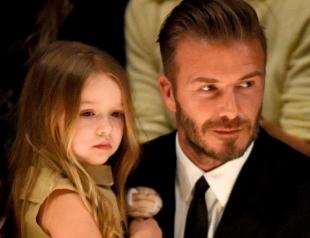 С ранних лет: Дэвид Бекхэм обучил 6-летнюю дочь вождению (ФОТО)