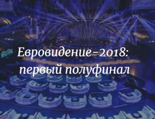 Прямая трансляция первого полуфинала Евровидения-2018 (ВИДЕО)