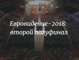 Прямая трансляция второго полуфинала Евровидения-2018 (ВИДЕО)