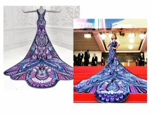Канны-2018: на создание роскошного платья Айшварии Рай ушло 3000 часов (ФОТО+ВИДЕО)