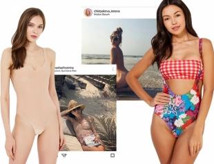 Здравствуй, небо, море, облака — модные купальники на лето 2018