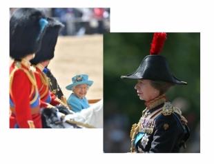День рождения королевы: 67-летняя дочь Елизаветы II вместе с принцами Чарльзом и Уильямом сопровождали парадную военную колонну (ФОТО)