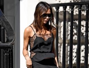 Lady in black: Виктория Бекхэм в эффектном образе на улицах Лондона (ФОТО)