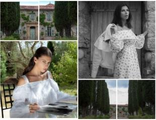 Украинская модель Алла Шереметьева побывала в замке Кристиана Диора (ФОТО)