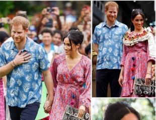 Меган Маркл и принц Гарри продолжают путешествие на Фиджи: новые образы пары и мотивирующая речь герцогини
