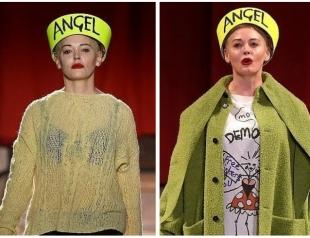 Роуз Макгоуэн стала героиней модного показа в Лондоне (ФОТО+ВИДЕО)