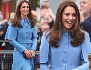 Кейт Миддлтон в стильном пальто от Mulberry прибыла с визитом в Бельмену (ФОТО)