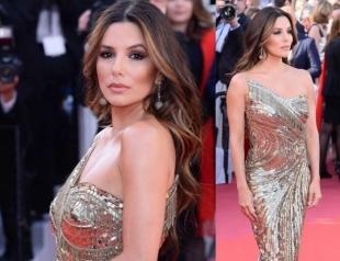 Ева Лонгория в золотистом платье блеснула на Каннском кинофестивале (ГОЛОСОВАНИЕ)