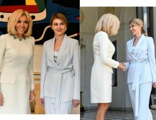 Первая леди Украины Елена Зеленская встретилась с Бриджит Макрон в Париже (ФОТО)