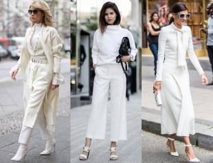 Тotal white: стильный вариант для теплой осени