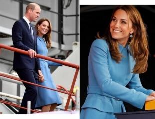 Герцоги Кембриджские посетили церемонию спуска нового судна на воду (ФОТО+ВИДЕО)