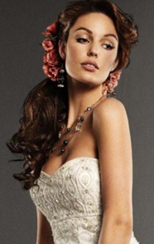 Cамые модные свадебные прически-2011