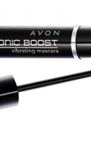 Тушь Avon Sonic boost mascara
