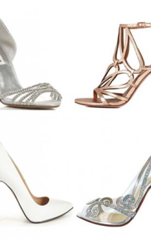 Самая модная свадебная обувь 2013