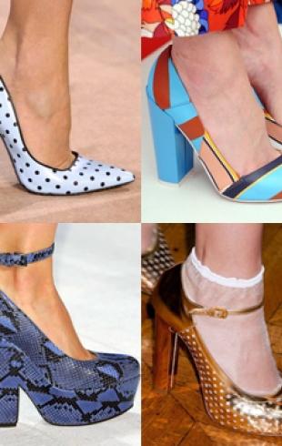 Модная обувь сезона весна-лето 2014: туфли