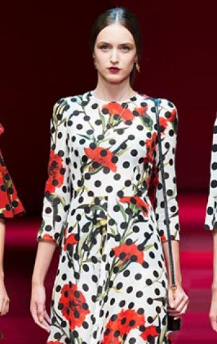 Платья в горох Dolce & Gabbana